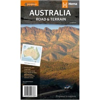 Hema Maps - Australia Road & Terrain Map